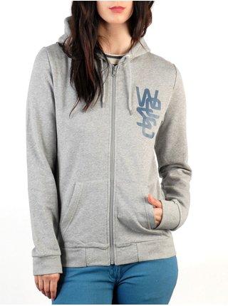 WESC Overlay GREY MELANGE dámská mikina - šedá