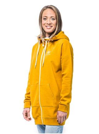 Horsefeathers LACEY GOLDEN YELLOW dámská mikina - žlutá