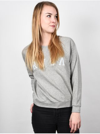 RVCA RVCA STITCH ATHLETIC HEATHER mikina dámská - šedá
