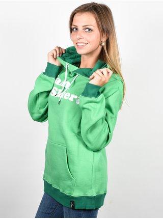 Line I Am A Skier green mikina dámská - zelená