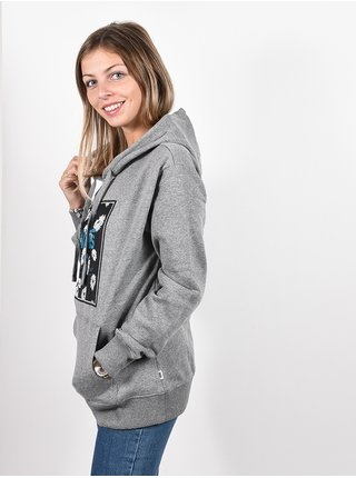 Vans MURTLE grey heather mikina dámská - šedá