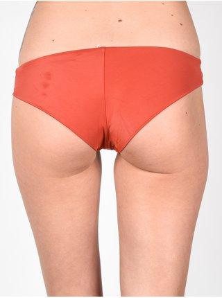 RVCA SOLID CROSS BACK HAVANA RED dvoudílné plavky - oranžová