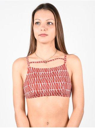 RVCA TRIANGLE ROW BRALETT HAVANA RED dvoudílné plavky - červená