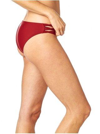 Fox Rodka Lace Up Btm DARK RED dvoudílné plavky - červená