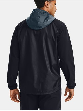 Černá bunda Under Armour STRETCH-WOVEN HOODED JACKET