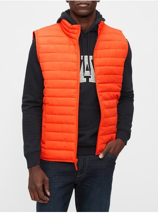 Oranžová pánská vesta GAP