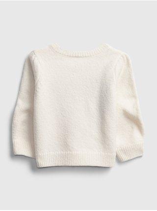 Bílý holčičí svetr GAP
