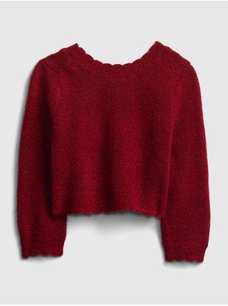 Červený holčičí svetr GAP