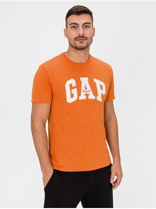 Oranžové pánske tričko GAP Logo