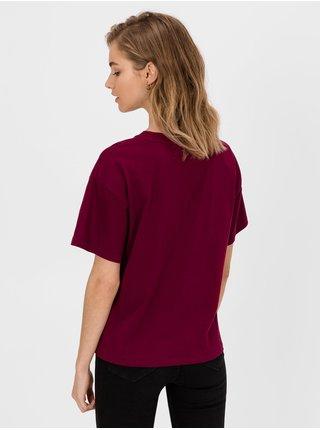 Vínové dámské tričko GAP Logo