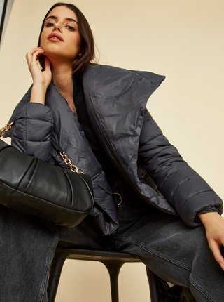 Černý dámský zimní prošívaný kabát ZOOT Trisha