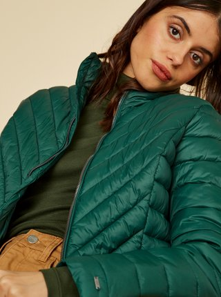 Tmavozelená dámska zimná prešívaná bunda ZOOT Vicci