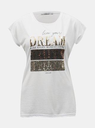 Biele tričko s potiskem Hailys