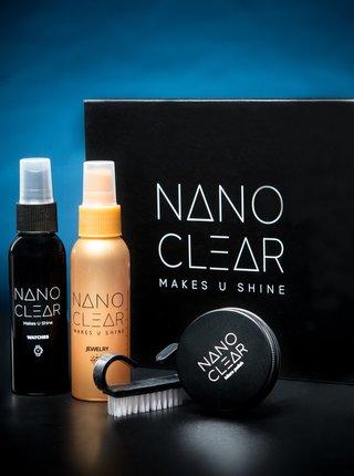Sada čistiacich prostriedkov a leštidla na hodinky a šperky NANO CLEAR 60/60/30 ml