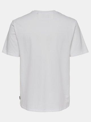 Biele basic tričko ONLY & SONS