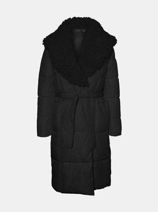 Černý zimní prošívaný kabát VERO MODA Cozy
