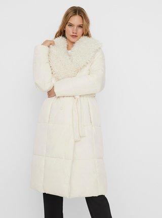 Krémový zimní prošívaný kabát VERO MODA Cozy
