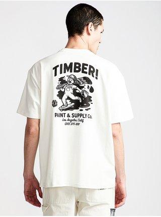 Element TIMBER HEAVY off white pánské triko s krátkým rukávem - bílá