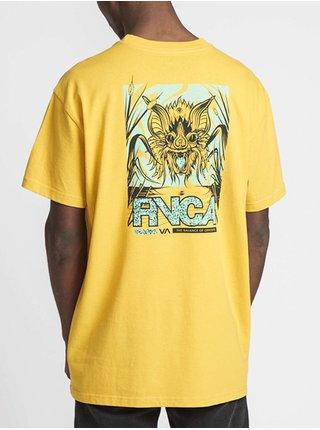 RVCA VAMPIRE BAT DIJON pánské triko s krátkým rukávem - žlutá