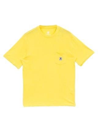 Element BASIC POCKET LABEL ASPEN GOLD pánské triko s krátkým rukávem - žlutá