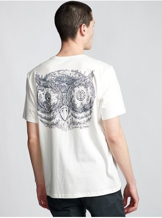 Element IN THE OWL off white pánské triko s krátkým rukávem - bílá