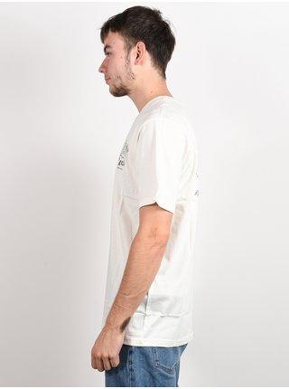 RVCA TROPICAL DISASTER ANTIQUE WHITE pánské triko s krátkým rukávem - bílá