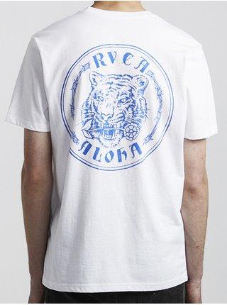 RVCA ALOHATIGER white pánské triko s krátkým rukávem - bílá