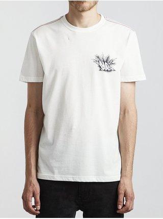 RVCA ALOHA OPPOSITES ANTIQUE WHITE pánské triko s krátkým rukávem - bílá