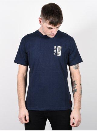 Element LOVE PASSION DEATH indigo pánské triko s krátkým rukávem - modrá