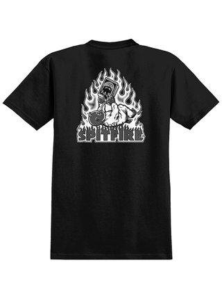 Spitfire DEMONSEED RAW BLK/WHT pánské triko s krátkým rukávem - černá