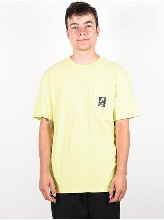RVCA MONOLITH LIMEADE pánské triko s krátkým rukávem - žlutá