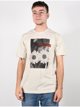 Rip Curl GD/BD BONE pánské triko s krátkým rukávem - béžová