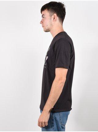 Rip Curl SWC FIN washed black pánské triko s krátkým rukávem - černá