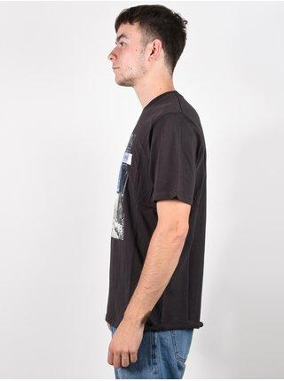 Rip Curl GD/BD washed black pánské triko s krátkým rukávem - černá
