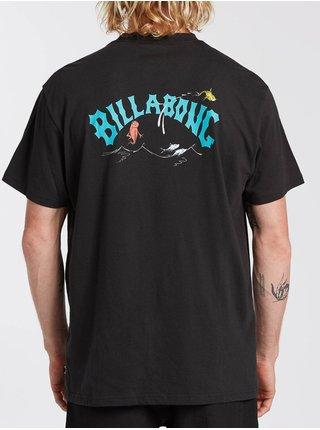 Billabong RED FISH black pánské triko s krátkým rukávem - černá