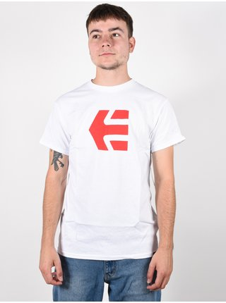 Etnies Icon white pánské triko s krátkým rukávem - bílá