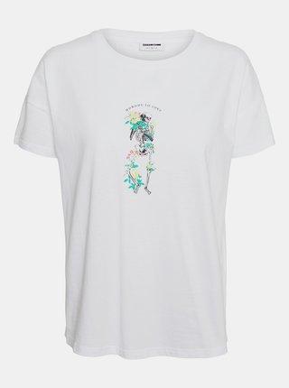 Bílé tričko Noisy May Command