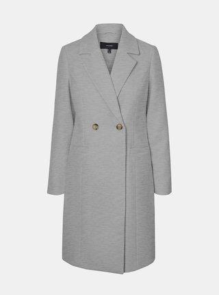 Šedý zimný kabát VERO MODA