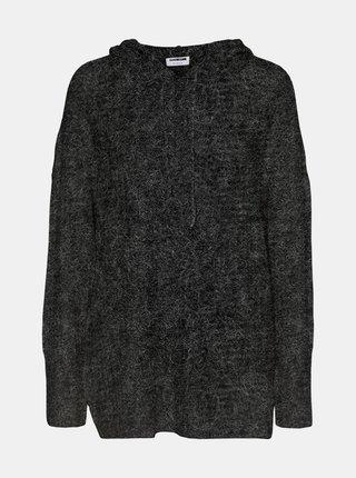 Šedý svetr s kapucí Noisy May Ally
