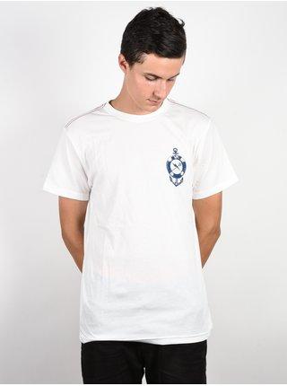 RVCA SEA LIFE ANTIQUE WHITE pánské triko s krátkým rukávem - bílá