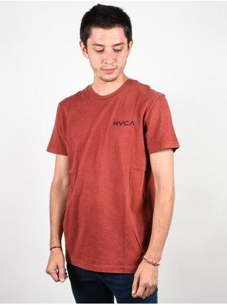 RVCA VENOM rosewood pánské triko s krátkým rukávem - červená