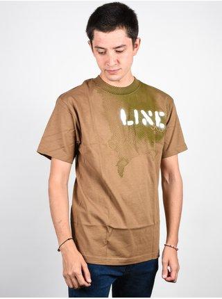 Line Stencil CAMEL pánské triko s krátkým rukávem - hnědá
