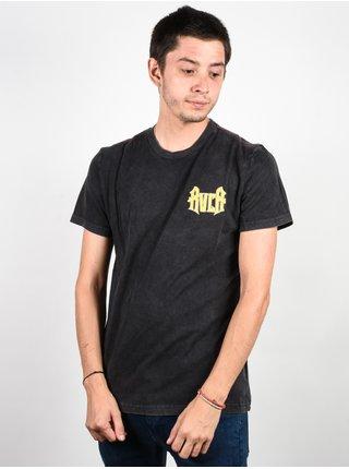 RVCA WINGS PIRATE BLACK pánské triko s krátkým rukávem - černá