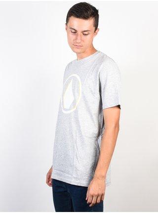 Volcom Burnt  HEATHER GREY pánské triko s krátkým rukávem - šedá