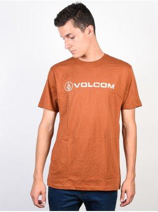 Volcom Line Euro  COPPER pánské triko s krátkým rukávem - oranžová