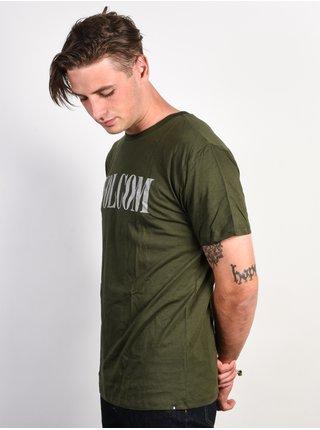 Volcom Weave DARK GREEN pánské triko s krátkým rukávem - zelená