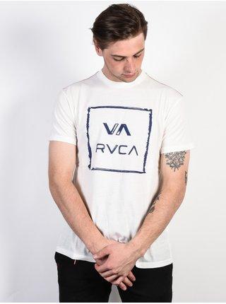 RVCA VA ALL THE WAY ANTIQUE WHITE pánské triko s krátkým rukávem - bílá
