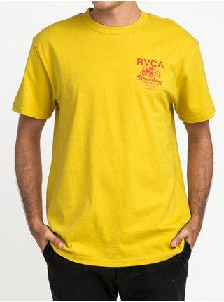RVCA RVCA WRECKING HARVEST GOLD pánské triko s krátkým rukávem - žlutá