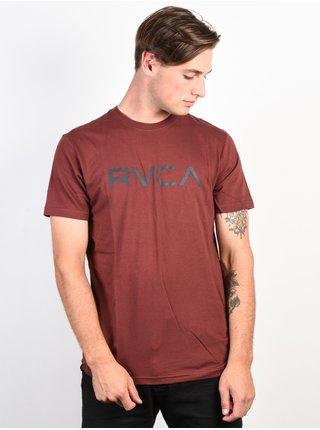 RVCA BIG RVCA BORDEAUX pánské triko s krátkým rukávem - vínová