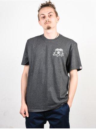 Element STUMP CHARCOAL HEATHER pánské triko s krátkým rukávem - šedá